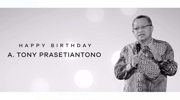 Selamat Ulang Tahun Mas Tony Prasetiantono